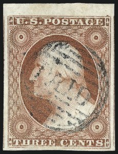 Sale Number 997, Lot Number 5159, 3c 1851-56 Issue (Scott 10-11A)3c Brownish Carmine, Ty. II (11A), 3c Brownish Carmine, Ty. II (11A)