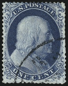Sale Number 997, Lot Number 5225, 1c 1857-60 Issue (Scott 18-24)1c Blue, Ty. III (21), 1c Blue, Ty. III (21)