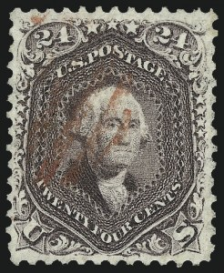 Sale Number 997, Lot Number 5350, 1861-66 Issue (Scott 56-70)24c Red Lilac (70), 24c Red Lilac (70)
