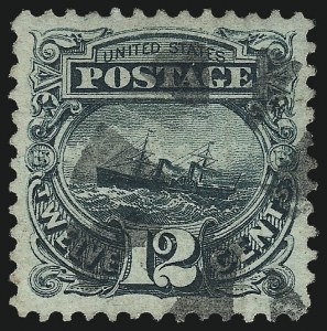 Sale Number 997, Lot Number 5457, 1c-12c 1869 Pictorial Issue (Scott 112-117)12c Green (117), 12c Green (117)