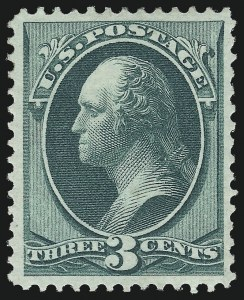 Sale Number 997, Lot Number 5560, 1870-71 National Bank Note Co. Ungrilled Issue (Scott 145-155)3c Green (147), 3c Green (147)
