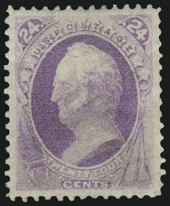 Sale Number 997, Lot Number 5565, 1870-71 National Bank Note Co. Ungrilled Issue (Scott 145-155)24c Purple (153), 24c Purple (153)