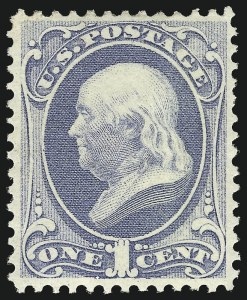 Sale Number 997, Lot Number 5571, 1873 Continental Bank Note Co. Issue (Scott 156-166)1c Ultramarine (156), 1c Ultramarine (156)