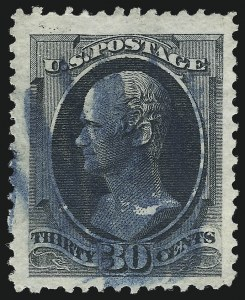 Sale Number 997, Lot Number 5582, 1873 Continental Bank Note Co. Issue (Scott 156-166)30c Gray Black (165), 30c Gray Black (165)