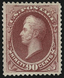 Sale Number 997, Lot Number 5583, 1873 Continental Bank Note Co. Issue (Scott 156-166)90c Rose Carmine (166), 90c Rose Carmine (166)