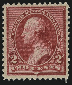 "Sale Number 997, Lot Number 5652, 1890-93 Issue (Scott 219-229)2c Carmine, Cap on Both ""2""'s (220c), 2c Carmine, Cap on Both ""2""'s (220c)"