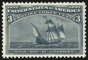 Sale Number 997, Lot Number 5670, 1893 Columbian Issue (1c thru 8c, Scott 230-236)3c Columbian (232), 3c Columbian (232)