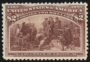 Sale Number 997, Lot Number 5706, 1893 Columbian Issue ($2.00 thru $5.00, Scott 242-245)$2.00 Columbian (242), $2.00 Columbian (242)