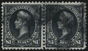 Sale Number 997, Lot Number 5784, 1895 Watermarked Bureau Issue (Scott 264-284)$1.00 Black, Ty. I-II (276-276A), $1.00 Black, Ty. I-II (276-276A)