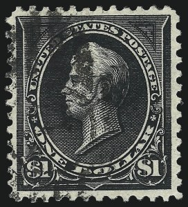 Sale Number 997, Lot Number 5789, 1895 Watermarked Bureau Issue (Scott 264-284)$1.00 Black, Ty. II (276A), $1.00 Black, Ty. II (276A)
