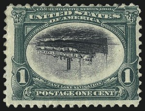 Sale Number 997, Lot Number 5825, 1901 Pan-American Issue Inverts (Scott 294a, 295a, 296a)1c Pan-American, Center Inverted (294a), 1c Pan-American, Center Inverted (294a)