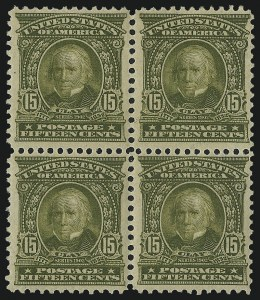 Sale Number 997, Lot Number 5849, 1902-08 Issues (Scott 300-319)15c Olive Green (309), 15c Olive Green (309)