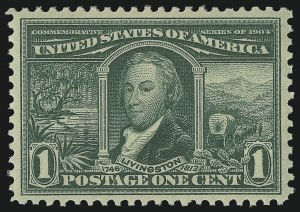Sale Number 997, Lot Number 5865, 1904 Louisiana Purchase, Jamestown Issues (Scott 323-330)1c Louisiana Purchase (323), 1c Louisiana Purchase (323)