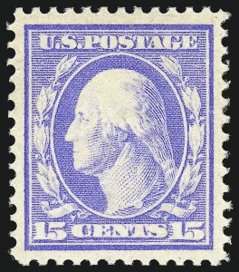 Sale Number 997, Lot Number 5940, 1910-13 Washington-Franklin Issue (Scott 369-396)15c Pale Ultramarine (382), 15c Pale Ultramarine (382)