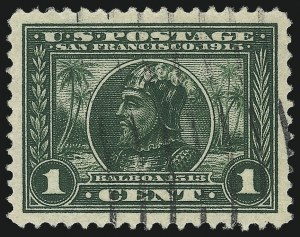 Sale Number 997, Lot Number 5957, 1913-15 Panama-Pacific Issue (Scott 397-404)1c Panama-Pacific (397), 1c Panama-Pacific (397)