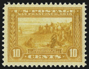 Sale Number 997, Lot Number 5965, 1913-15 Panama-Pacific Issue (Scott 397-404)10c Orange Yellow, Panama-Pacific (400), 10c Orange Yellow, Panama-Pacific (400)