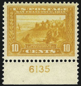 Sale Number 997, Lot Number 5966, 1913-15 Panama-Pacific Issue (Scott 397-404)10c Orange Yellow, Panama-Pacific (400), 10c Orange Yellow, Panama-Pacific (400)