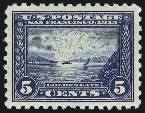 Sale Number 997, Lot Number 5975, 1913-15 Panama-Pacific Issue (Scott 397-404)5c Panama-Pacific, Perf 10 (403), 5c Panama-Pacific, Perf 10 (403)