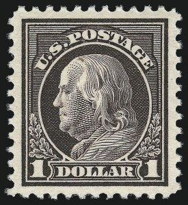 Sale Number 997, Lot Number 6055, 1917-19 Issues (Scott 481-524)$1.00 Violet Brown (518), $1.00 Violet Brown (518)