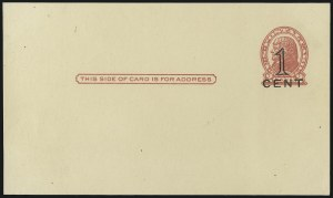 Sale Number 997, Lot Number 6438, The Falberg Collection of Postal Cards (UX28-UX39)1c on 2c Red on Buff, Die I, 1c on 2c Red on Cream, Die II, Postal Cards, San Francisco, Cal. Press-Printed Surcharges (UX34-UX35; USPCC S46-2, S47-2), 1c on 2c Red on Buff, Die I, 1c on 2c Red on Cream, Die II, Postal Cards, San Francisco, Cal. Press-Printed Surcharges (UX34-UX35; USPCC S46-2, S47-2)