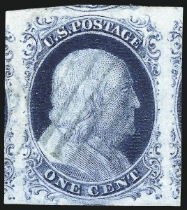 Sale Number 998, Lot Number 131, Plate One Late Gem Examples1c Blue, Ty. IV (9), 1c Blue, Ty. IV (9)