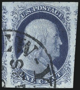 Sale Number 998, Lot Number 145, Plate One Late Gem Examples1c Blue, Ty. IV (9), 1c Blue, Ty. IV (9)