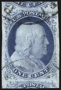 Sale Number 998, Lot Number 148, Plate One Late Gem Examples1c Blue, Ty. IV (9), 1c Blue, Ty. IV (9)