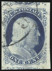 Sale Number 998, Lot Number 161, Plate One Late Gem Examples1c Blue, Ty. IV (9), 1c Blue, Ty. IV (9)