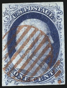 Sale Number 998, Lot Number 163, Plate One Late Gem Examples1c Blue, Ty. IV (9), 1c Blue, Ty. IV (9)