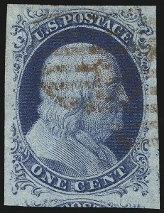 Sale Number 998, Lot Number 164, Plate One Late Gem Examples1c Blue, Ty. IV (9), 1c Blue, Ty. IV (9)
