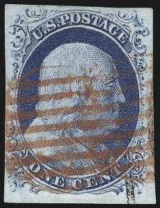 Sale Number 998, Lot Number 167, Plate One Late Gem Examples1c Blue, Ty. IV (9), 1c Blue, Ty. IV (9)