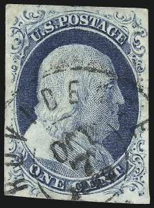 Sale Number 998, Lot Number 178, Plate One Late Gem Examples1c Blue, Ty. IV (9), 1c Blue, Ty. IV (9)
