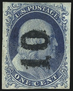 Sale Number 998, Lot Number 180, Plate One Late Gem Examples1c Blue, Ty. IV (9), 1c Blue, Ty. IV (9)