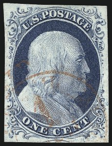 Sale Number 998, Lot Number 183, Plate One Late Gem Examples1c Blue, Ty. IV (9), 1c Blue, Ty. IV (9)