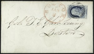 Sale Number 998, Lot Number 243, Plate One Late On Cover1c Blue, Ty. IV (9), 1c Blue, Ty. IV (9)
