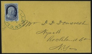 Sale Number 998, Lot Number 259, Plate One Late On Cover1c Blue, Ty. IV (9), 1c Blue, Ty. IV (9)
