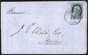 Sale Number 998, Lot Number 260, Plate One Late On Cover1c Blue, Ty. IV (9), 1c Blue, Ty. IV (9)