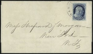 Sale Number 998, Lot Number 263, Plate One Late On Cover1c Blue, Ty. IV (9), 1c Blue, Ty. IV (9)