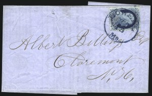 Sale Number 998, Lot Number 268, Plate One Late On Cover1c Dark Blue, Ty. IV (9 var), 1c Dark Blue, Ty. IV (9 var)