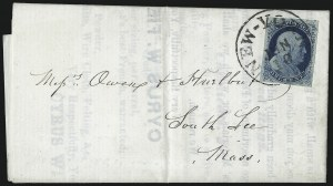 Sale Number 998, Lot Number 269, Plate One Late On Cover1c Blue, Ty. IV (9), 1c Blue, Ty. IV (9)