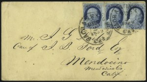 Sale Number 998, Lot Number 271, Plate One Late On Cover1c Blue, Ty. IV (9), 1c Blue, Ty. IV (9)
