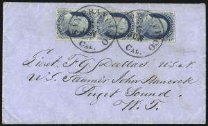 Sale Number 998, Lot Number 273, Plate One Late On Cover1c Blue, Ty. IV (9), 1c Blue, Ty. IV (9)