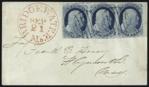 Sale Number 998, Lot Number 274, Plate One Late On Cover1c Blue, Ty. IV (9), 1c Blue, Ty. IV (9)