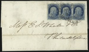 Sale Number 998, Lot Number 275, Plate One Late On Cover1c Blue, Ty. IV (9), 1c Blue, Ty. IV (9)