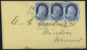 Sale Number 998, Lot Number 278, Plate One Late On Cover1c Blue, Ty. IV (9), 1c Blue, Ty. IV (9)