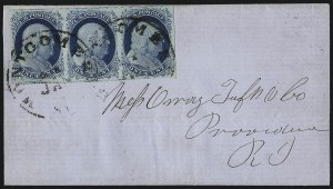 Sale Number 998, Lot Number 280, Plate One Late On Cover1c Blue, Ty. IV (9), 1c Blue, Ty. IV (9)