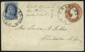 Sale Number 998, Lot Number 285, Plate One Late On Cover1c Blue, Ty. IV (9), 1c Blue, Ty. IV (9)