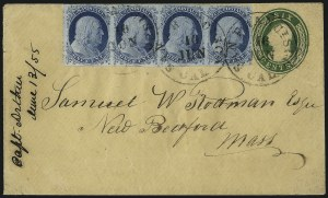 Sale Number 998, Lot Number 287, Plate One Late On Cover1c Blue, Ty. IV (9), 1c Blue, Ty. IV (9)
