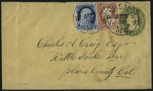 Sale Number 998, Lot Number 288, Plate One Late On Cover1c Blue, Ty. IV (9), 1c Blue, Ty. IV (9)