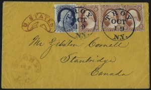 Sale Number 998, Lot Number 290, Plate One Late On Cover1c Blue, Ty. IV (9), 1c Blue, Ty. IV (9)